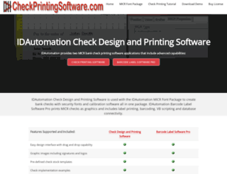 checkprintingsoftware.com screenshot
