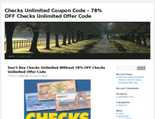 checksunlimitedoffers.wecouponcode.com screenshot