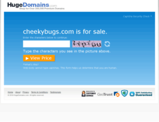 cheekybugs.com screenshot