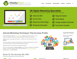 cheekygreenmonkey.com screenshot