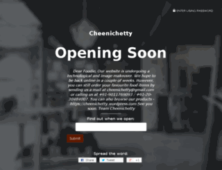 cheenichetty.com screenshot