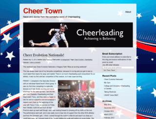 cheertown.wordpress.com screenshot