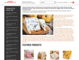 cheeseofthemonthclub.com screenshot