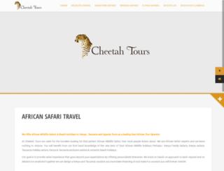 cheetah-tours.com screenshot
