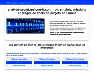 chef-de-projet.enligne-fr.com screenshot