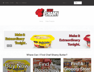 chef-shamy-gourmet-butter.myshopify.com screenshot