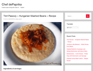 chefdepaprika.com screenshot