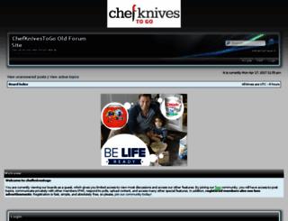 chefknivestogoforum.com screenshot