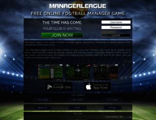 chelsea.managerleague.com screenshot