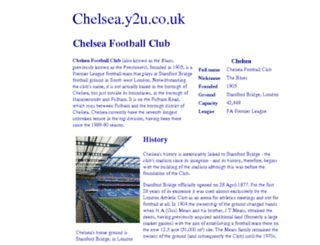 chelsea.y2u.co.uk screenshot