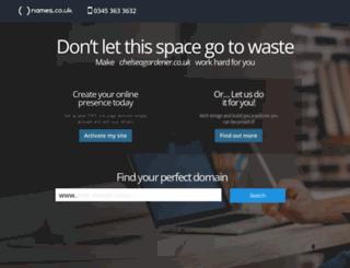 chelseagardener.co.uk screenshot