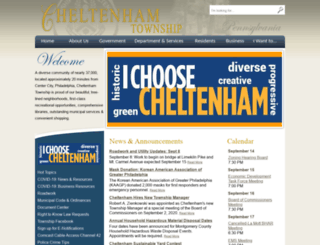 cheltenham.municipalcms.com screenshot