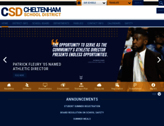 cheltenham.org screenshot