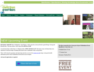 cheltenhamgreendoors.org.uk screenshot