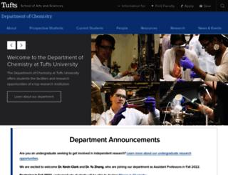 chem.tufts.edu screenshot