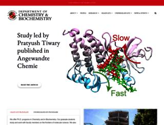 chem.umd.edu screenshot