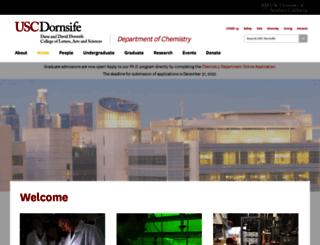 chem.usc.edu screenshot