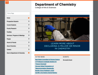 chem.utk.edu screenshot