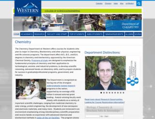 chem.wwu.edu screenshot