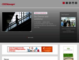 chemanager-online.de screenshot