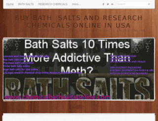 chemicalbathsaltsonline.com screenshot