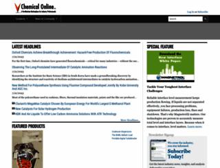 chemicalonline.com screenshot