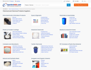 chemicals.exportersindia.com screenshot