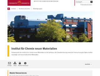 chemie.uni-osnabrueck.de screenshot