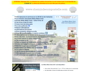 chemindecompostelle.com screenshot