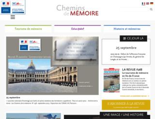 cheminsdememoire.gouv.fr screenshot