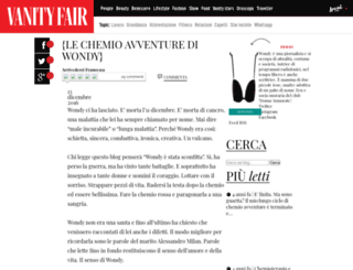 chemioavventurediwondy.vanityfair.it screenshot