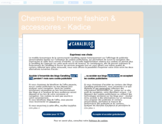 chemises.canalblog.com screenshot