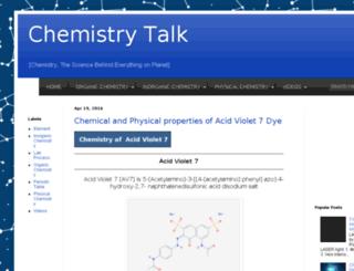 chemistry-talk.com screenshot