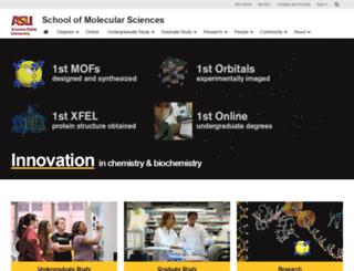 chemistry.asu.edu screenshot