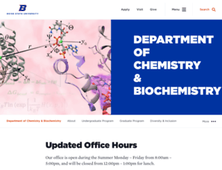 chemistry.boisestate.edu screenshot