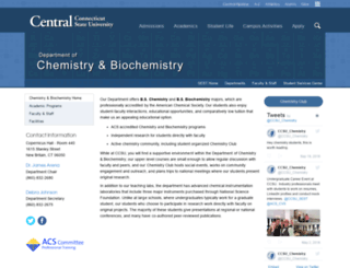 chemistry.ccsu.edu screenshot