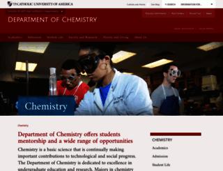 chemistry.cua.edu screenshot