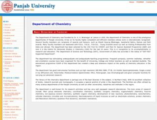 chemistry.puchd.ac.in screenshot