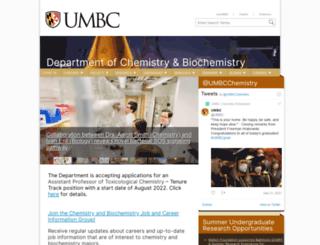 chemistry.umbc.edu screenshot