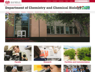 chemistry.unm.edu screenshot