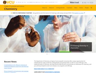 chemistry.vcu.edu screenshot