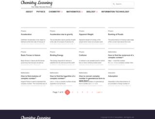 chemistrylearning.com screenshot