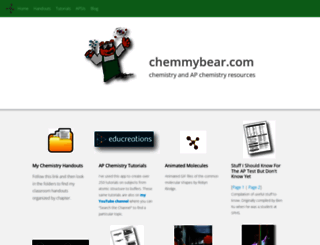 chemmybear.com screenshot