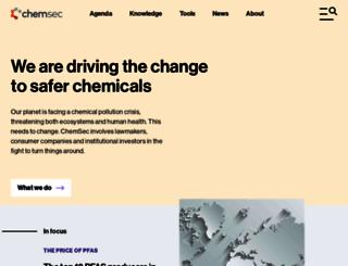 chemsec.org screenshot