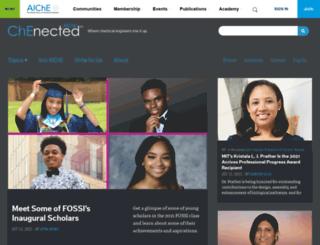 chenected.aiche.org screenshot