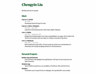 chengyinliu.com screenshot