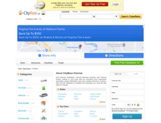 chennai.citybase.in screenshot