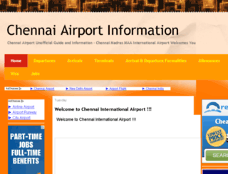 chennaiairportinfo.com screenshot