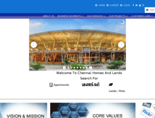 chennaihomesandlands.com screenshot