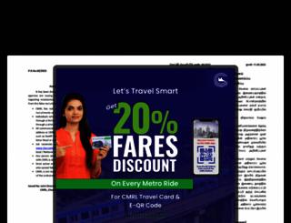 chennaimetrorail.org screenshot
